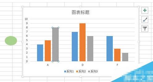 在Excel图表中将柱形形状改变成心形图形的方法截图