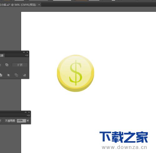 使用Ai做出金币图标的简单教程截图