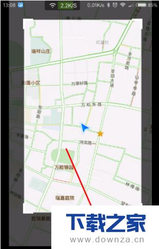 在腾讯地图中使用截图工具的图文教程截图