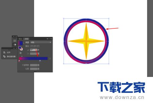 使用ai绘画出星形标志的详细操作方法截图