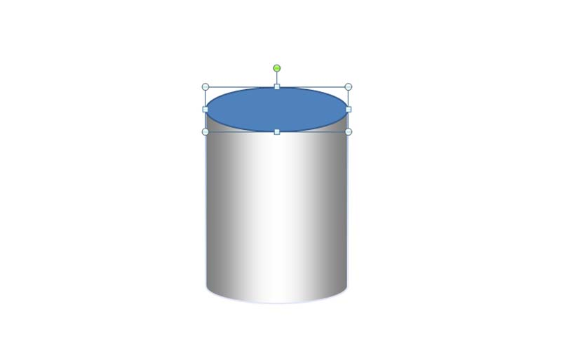 教大家使用ppt打造出银色金属质感的圆柱体截图