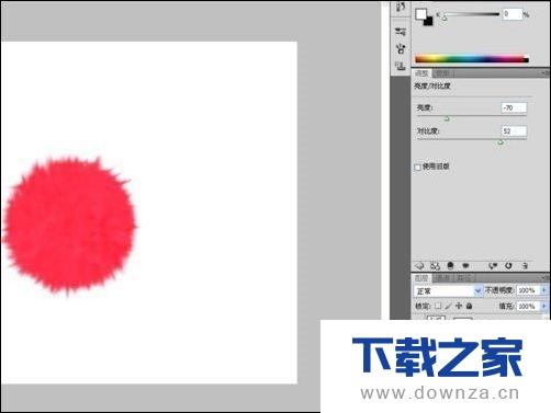 利用ps绘制毛茸茸的红色线球具体操作方法截图