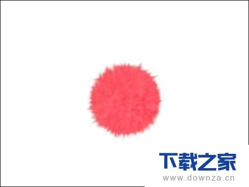 利用ps绘制毛茸茸的红色线球具体操作方法