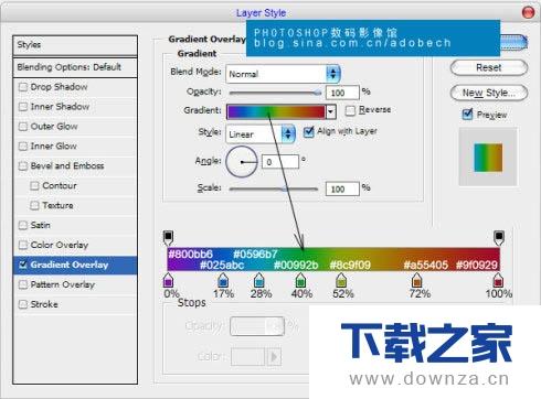 使用PhotoShop软件制作彩色渐变文字的图文教程截图