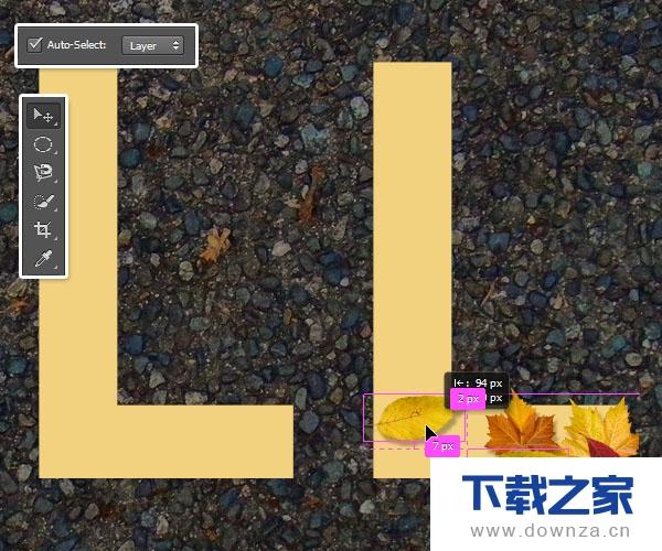 用PS教你绘制秋天落叶效果文字的具体操作步骤截图